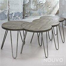Table basse modulable couleur bois RAEN