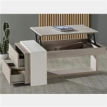 Table basse modulable moderne couleur bois ANTIBES