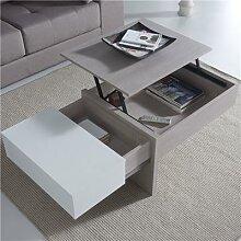 Table basse modulable moderne couleur bois et