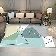 Table Basse Multicolore Paillasson Moderne