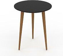 Table basse - Noir, ronde, design scandinave,