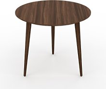 Table basse - Noyer, ronde, design scandinave,