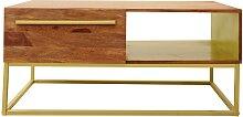 Table basse OREGAN - 1 niche et 1 tiroir - Bois de