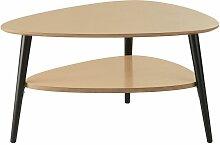 Table basse ovoïde 2 plateaux