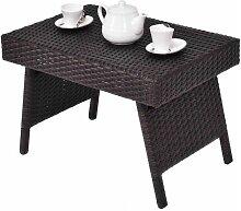 Table Basse Pliable de Jardin en Résine Table