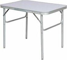 Table basse pliante en aluminium 75x55x60cm Camp