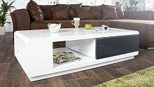 Table basse rectangulaire laquée blanche avec