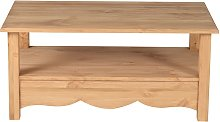 Table basse rectangulaire pin massif