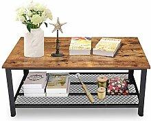 Table Basse rétro, Design en Bois et Structure en