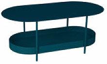 Table basse Salsa / 119 x 58 cm - Fermob bleu en