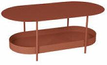 Table basse Salsa / 119 x 58 cm - Fermob rouge en