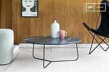 Table basse scandinave Vertü en marbre vert
