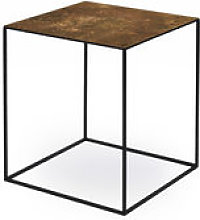 Table basse Slim Irony ART / 41 x 41 x H 46 cm -