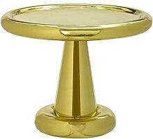 TABLE BASSE SPUN SHORT DE TOM DIXON, LAITON