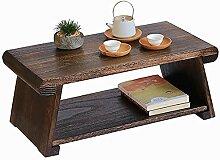 Table basse, Table basse 2 niveaux avec étagère