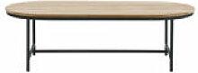 Table basse Wicked / Ovale - 123 x55 cm - Teck -