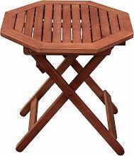 Table bistrot de jardin terrasses marron