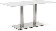 Table / bureau design 'DENVER' blanc -
