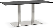 Table / bureau design 'DENVER' noir -