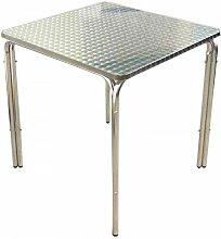 Table carrée plateau de 70 cm Aluminium