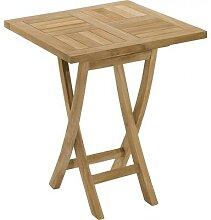 Table carrée pliante teck