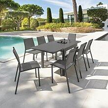 Table carrée/rect. extensible Piazza 8 p. quartz