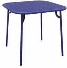 Table carrée Week-end / 85 x 85 cm - Aluminium -