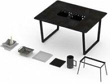 Table classique barbecue intégré cévenne 4-6