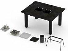 Table classique garrigue pro barbecue intégré
