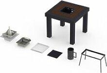 Table classique onebois barbecue intégré 2-3
