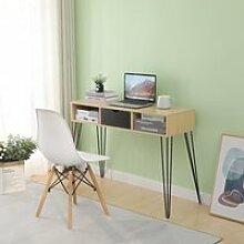 Table console Bureau de table en bois avec 1