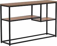 Table console de couleur bois foncé
