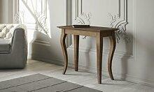 Table console extensible avec pieds en hêtre