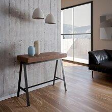 Table console extensible BANCO ART en bois massif