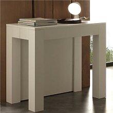 Table console extensible blanche design VIVIANE