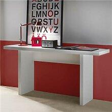 Table console extensible blanche design ZITA