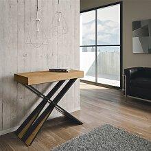 Table console extensible DIAGO structure chêne