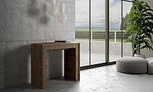 Table console extensible Mia : 5 rallonges / Blanc