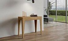 Table console extensible : Petite version / Chêne