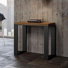Table console extensible TECNO LIBRA en noyer