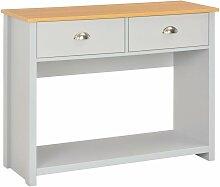 Table console Gris 97 x 35 x 76 cm