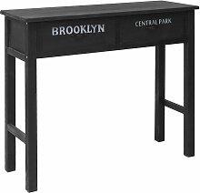 Table console Noir 90 x 30 x 77 cm Bois - Topdeal