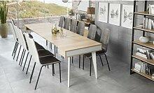Table console style nordique extensible : Jusqu à