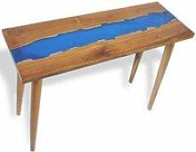 Table console Teck Résine 100 x 35 x 75 cm Bouts