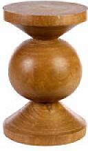 Table d'appoint Ball / Bois sculpté main -