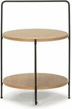 Table d'appoint bois/métal - sate - l 45 x l