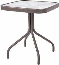 Table d'appoint d'extérieur acier