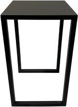 Table d'appoint de jardin acier noir H50cm
