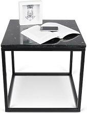TABLE D'APPOINT DESIGN PRAIRIE MARBRE ET METAL