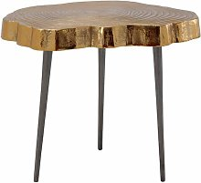 Table D'appoint Design wood Art 46cm Or -